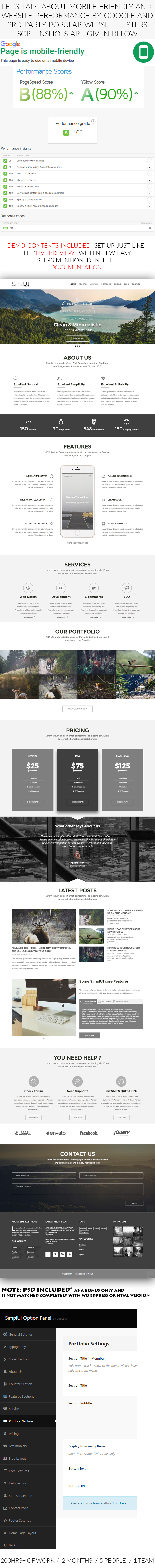 SimplUI - One Page Clean Parallax Responsive WordPress Theme - 2